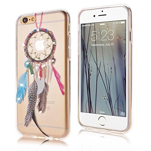 iPhone 6S Hülle,iPhone 6 Hülle,SMART LEGEND iPhone 6 6S 4.7 Zoll Weich TPU Silikon Case Schutzhülle Crystal Case Durchsichtig, Luxus Glitzer Glanz Kristall Crystal Transparent Silikon Schutzhülle Ultr Traumfänger