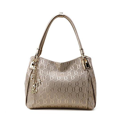 MATAGA Damen Handtaschen Leder Tasche Umhängetasche Crossbody Tasche für Damen Abnehmbare Gürtel JHFX958073 (gold) Golden3