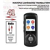 Zoternen Traduttore vocale istantaneo e Portatile, Traduttore Intelligente Tascabile a 42 Lingue con Schermo Touch da 2,0 Pollici, Wi-Fi Punto di Accesso Mobile Nero