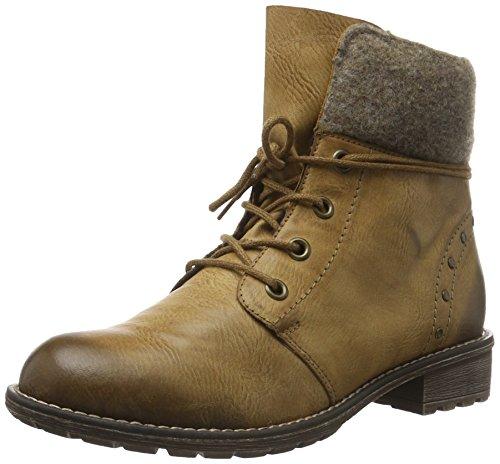 Rieker Kinder Mädchen K3467 Combat Boots, Braun (Muskat/Wood / 24), 37 EU