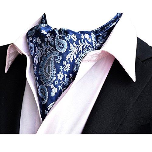 Ascot-schal (YCHENG Ascotkrawatte Gemustertes Quadratische Herren Bandana Tuch Halstuch Ascot Krawatte Beige 118*16*5.5cm)