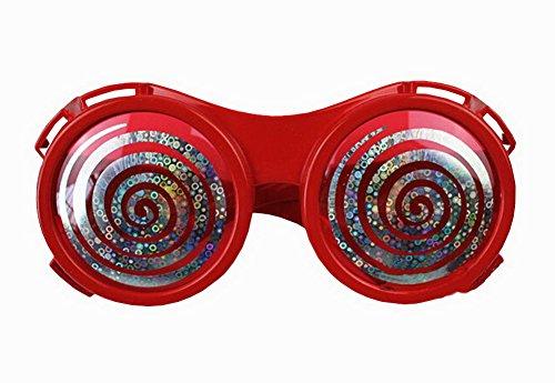 Lustige Party Brille Entzückende Glas-Parteiversorgungs Dizzy-Augen- Rot