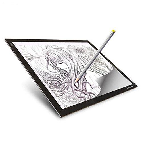 Lmeison A4 Leuchttisch,LED Leuchtkasten Ultra Leuchtplatte LED Light Box tracer USB Power LED Artcraft Tracing Light Table Light Pad für Künstler, Zeichnung, Skizzieren, Animation