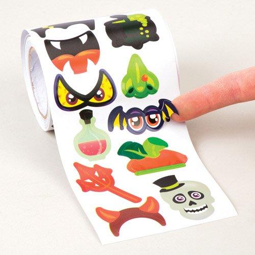 Große Aufkleberrolle mit Halloween-Motiven für Kinder ALS Bastel- und Deko-Idee zum Gestalten zu Halloween für Jungen und Mädchen (400 ()
