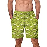 Mymyguoe Pantalones Cortos de Playa Impresos para Hombre Hombres Casual Graffiti 3D Impreso Trabajo en la Playa Casual Hombres Pantalones Cortos Pantalones Cortos Pantalones