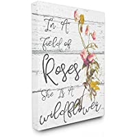 Stupell Industries Be a Wildflower Cursive Typography Oversized Stretched Canvas Wall Art, 24 x 1.5 x 30, Proudly Made in USA preiswert