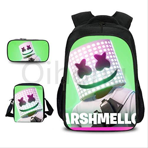 RUOXI Schultasche Spiel Battle Royale Schultasche Schöne Charakter Rucksack Für Kinder Cartoon Druck Schultaschen KinderSchokolade Farbe