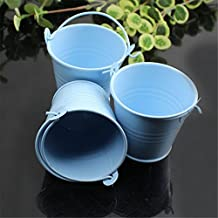 Mini Cubos de Metal Azul (10 uds.) Altura 5cm para Invitados con Dulces Caramelos Decoración de Mesas