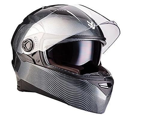 ARROW AF-77 Carbon · Helmet Street Moto-Helmet Full-Face Motorcycle-Helmet Sport Cruiser Urban Scooter-Helmet · ECE certified · incl. two Visors · incl. Cloth Bag · Carbon · M