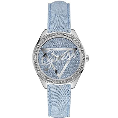 Guess-Reloj de pulsera analógico para mujer cuarzo piel w0456l10