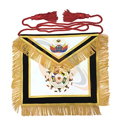 Unbekannt Freimaurer Schottische Rite 32. Grad Schürze Hand Bestickt Master Of Royal Geheimes MA076