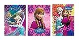 10x Disney Frozen–Elsa & Anna–Reine des Neiges–Bloc-notes –. Format A7Idéal pour anniversaires d'enfants