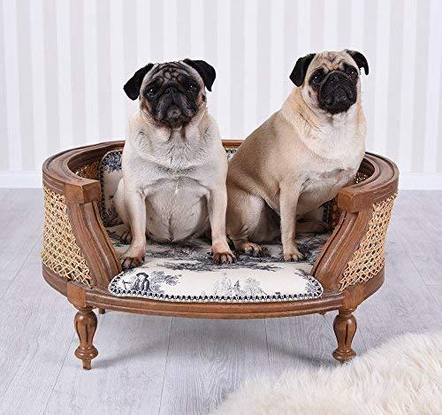 Hundebett Toile de Jour Hundesofa Hundecouch Shabby Chic Barock Katzenbett Palazzo Exklusiv