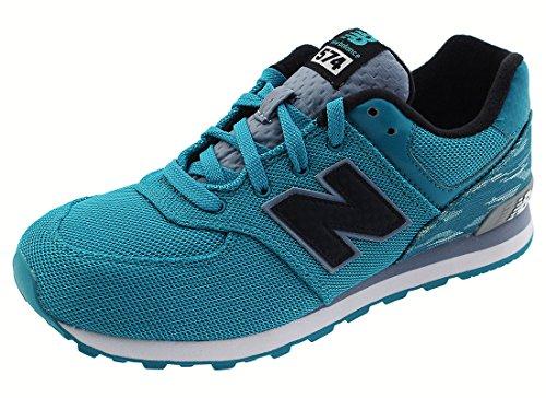 New Balance Kids Unisex Summer Waves 574 (Big Kid) Blue/Blue Sneaker 3.5 Big Kid M Blue/Blue