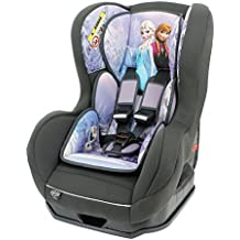 Mycarsit - Silla de coche disney grupo 0+/1 de 0 a 18 kg - fabricación 100% francesa - 3 estrellas test tcs - 5 colorido - reposa cabeza y asiento tapizado y acolchado.