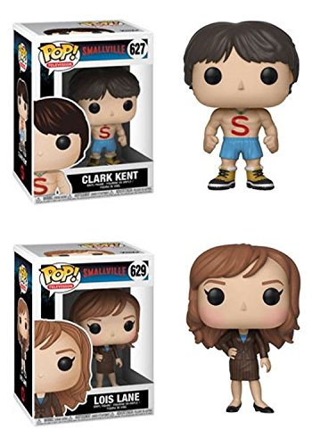 FunkoPOP Smallville Clark Kent Shirtless Lois Lane Stylized TV Vinyl Figure Bundle Set NEW