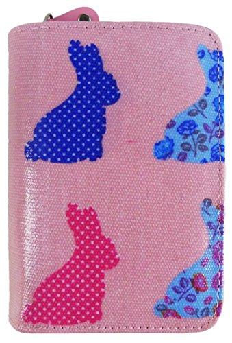 Kukubird Vari Gatti Unicorni Animali Ancora Ombrello Floreale Pattern Medium Signore Borsa Frizione Portafoglio Rabbit Pink