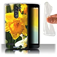 Custodia/Cover Gel/TPU/Prottetiva STUFF4 stampata con il disegno Fiori del giardino floreale per LG L Bello/D331 - Narciso - Bella Narciso