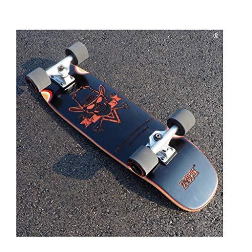 SGLI Geschnitzte Ahorn Skateboard Erwachsene Pinsel Straße Vier Räder Skateboard Road Board 72 × 20 cm (Color : C) -