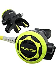 """Scuba Choice Palantic AS206 Black/Yellow Second Stage Regulator Octopus with 36"""" 350PSI Hose"""