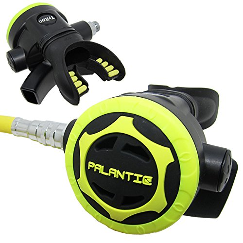 Scuba Choice Palantic AS206 Black/Yellow Second Stage Regulator Octopus with 36 350PSI Hose by Scuba Choice