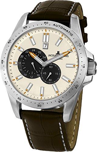 Jacques Lemans Herren-Armbanduhr XL Liverpool Automatic Analog Automatik Leder 1-1775B