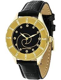 Pierre Cardin - Reloj analógico de cuarzo para mujer, color dorado/negro/negro