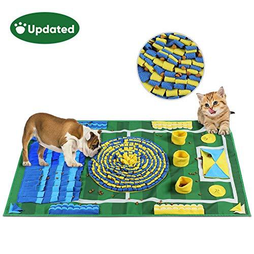 YOUTHINK 【Neu】 Schnüffelteppich für Hunde, Schnüffelrasen Groß Riechen Trainieren Matte Fördert Natürliche Nahrungssuche für Haustier, Hunde Intelligenzspielzeug Futtermatte Trainingsmatte,100 * 66cm