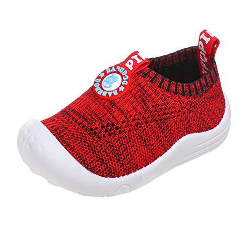 Pingtr - Kinder Schuhe Sportschuhe Mesh Atmungsaktiv Laufschuhe,Kinder Jungen und Mädchen fliegen gewebte atmungsaktive Sportschuhe Socken Schuhe (Abstand Schuhe Mädchen)