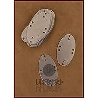 Acero Caseta para láminas Armadura, Visby de tipo, pack con 25unidades LARP Vikingo Medieval