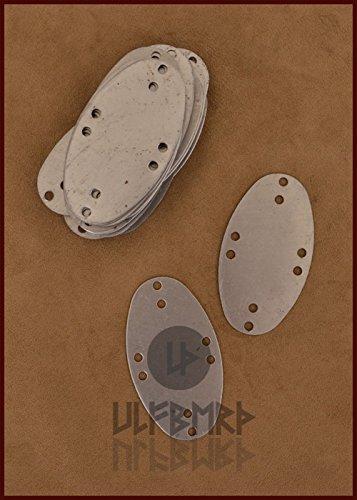 Stahlschuppen für Lamellenrüstung, Visby-Typ, Pack mit 25 Stück LARP Wikinger Mittelalter