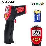 Thermomètre Infrarouge AIDBUCKS A530 Cuisine Electronique Thermomètre à visée laser Numérique Multi-Fonctionnel Sans Contact avec Avertissement de batterie faible [plage de mesure -32 ° à 530 °C ]