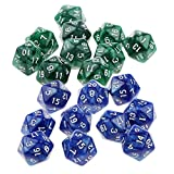 Sharplace 20er-Set Acryl 20-Seitig D20 Dice