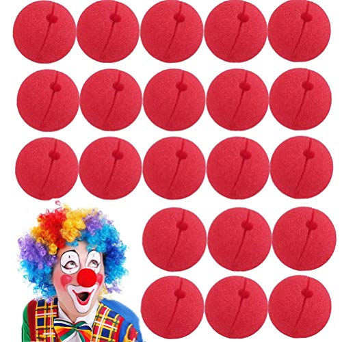 Uoeo 25 Stück lustige Clownnnase Schaumstoff Zirkus rote Nase Magic Dress Party Supplies Cosplay Kostüm Zubehör
