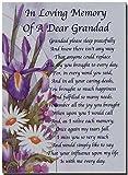 Grave Card - In Loving Memory Of A Dear Grandad - Free Card Holder - M08X