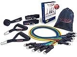 Premium Resistance Bands Expander Set inkl. Workout Guide – Widerstandsbänder Tubes perfekt für Mann & Frau – Dein Profi Fitnessstudio für zu Hause & unterwegs