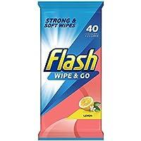 Flash Wipe and Go Lemon, 40 Wipes