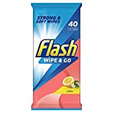 Flash Wipe and Go Cleaning Wipes Mediterranean Lemon (30 Packs, each containing 40 wipes)