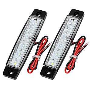 iTimo 1 Pair LED Truck Side Marker Turn Indicators DC 12V Automobile Tail Warning Lamp Car Turn Signal Lights Brake Lamp