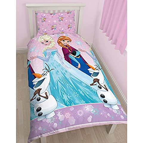 Character World Disney Frozen Magic - Juego de ropa de cama individual, multicolor