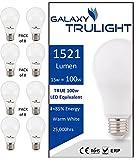 Confezione da 8-15W lampadina LED (100W equivalente) - Galaxy Trulight - bianco caldo