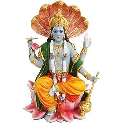 Pacific Giftware Hindu Gott Vishnu Statue Farbe