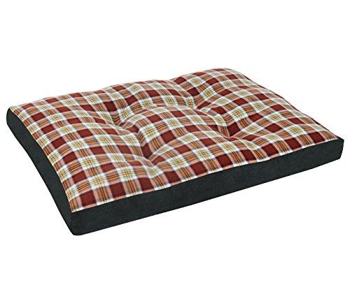 Woltu ht2087br3 cuscino per cani divano gatti lettino per animali domestici morbido lavabile nero+marrone 110x80x10cm