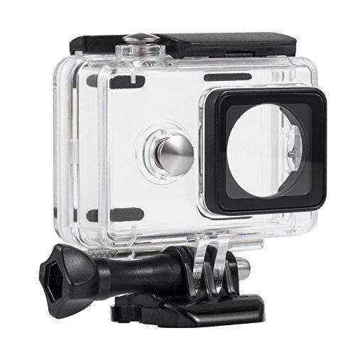 Rhodesy Wasserfest Beschichtet Stabilen Gehäuse Schutzhülle mit Halterung & Einschraubtiefe 40m für Xiaomi Yi Aktion Kamera nur - Unterwasser-kamera-gehäuse