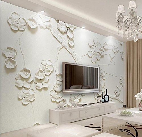 308 Pflaume (LWCX Custom 3D Wandbild Tapeten Geprägte Pflaume Tv Hintergrund Wall 3D Wallpaper Wandmalereien 308X220CM)