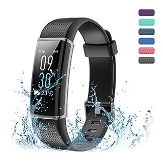 Amytech Fitness Tracker, Inteligente Pulsera Bluetooth 4.0 con Registro de Sue?o para la Salud de la Aptitud Control de Actividad para Android iOS iPhone Samsung Mš®vil