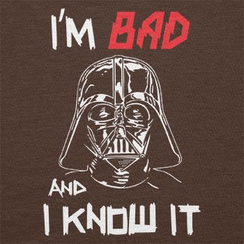 TEXLAB - I´m bad and i know it - Herren T-Shirt Braun