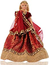 Aglare Barbie Toys, Clothes, Accessories, 17x9x7cm (Red)