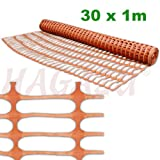 Bradas AS-BR10090261030 Bauzaun 1 x 30 m, orange