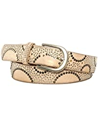 Gadzo® Damen Gürtel Nieten Vintage Look kürzbar teil Leder Kamari17
